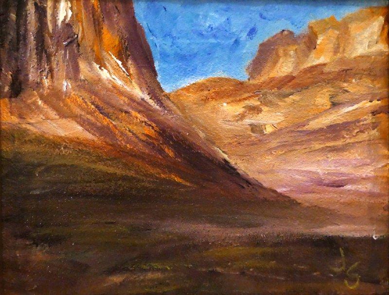 """Antelope Canyon"", Textured Acrylic, 8x10"