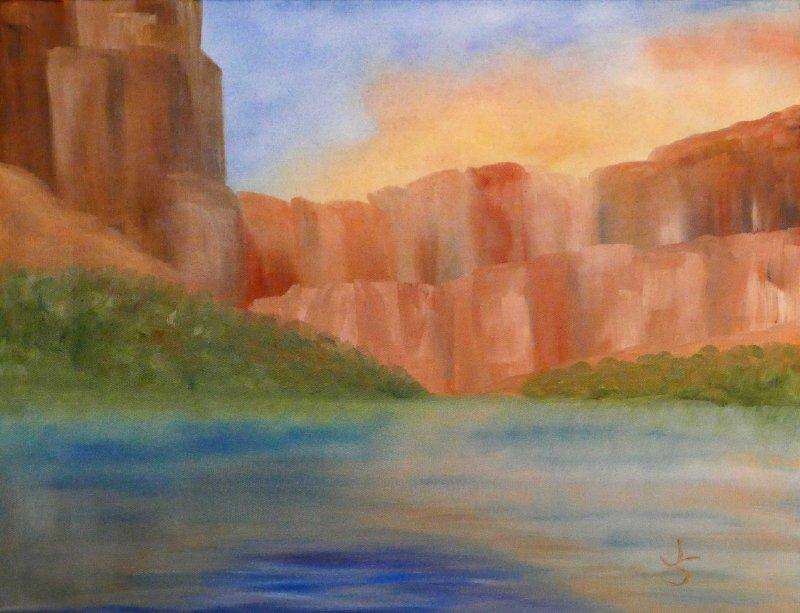 """""""Calm Morning on the Colorado"""", Oil, 16x20"""