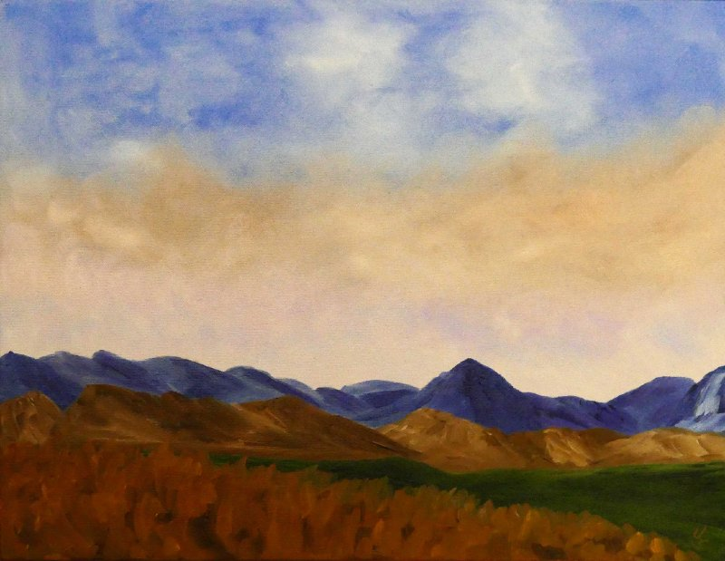 """""""Late Afternoon-Cody Mountain"""", Oil, 16x20"""