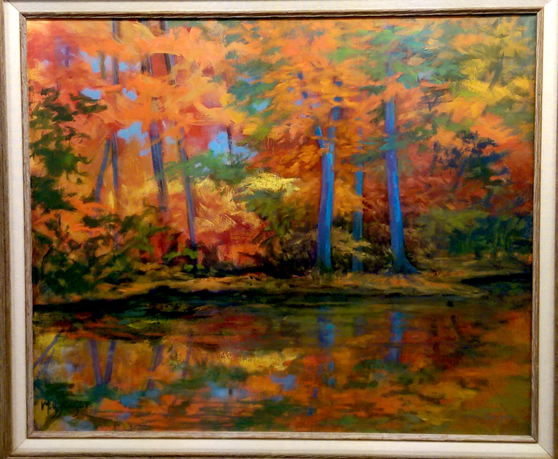 'Fall Reflections' Oil by Marti Yeager