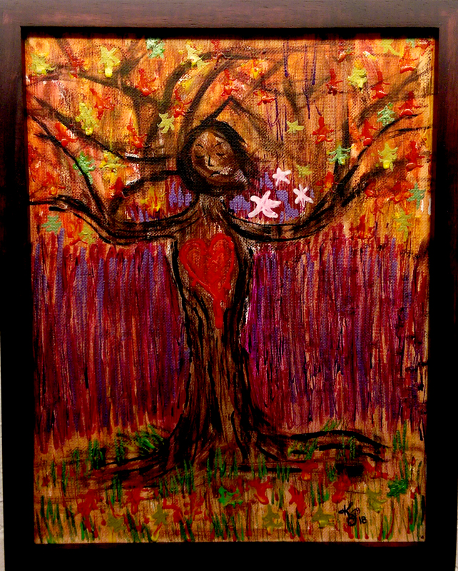 'Mother Tree' Acrylic by Kendra Summers