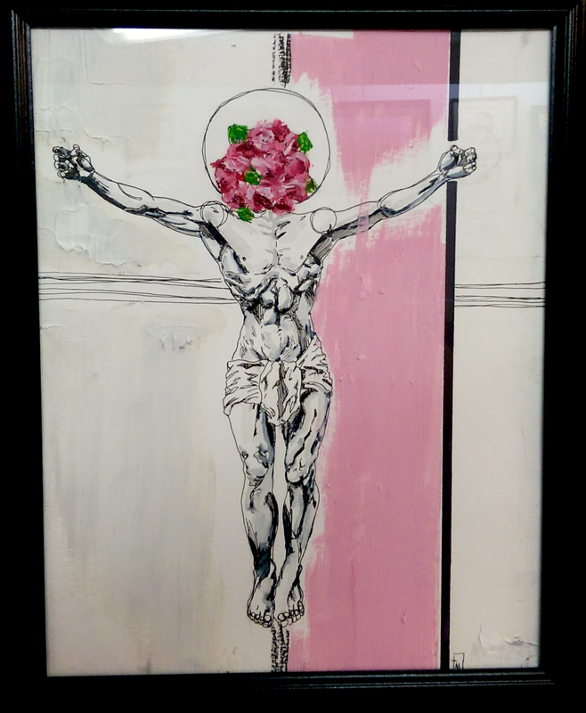 'Blooming Christ' Mixed Media by Tim Myers