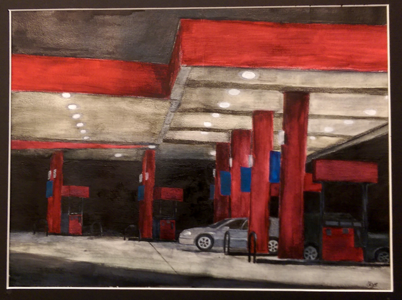 """""""Gas Station"""" Mixed Media by Skye Terry"""
