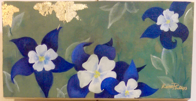 """""""Columbine"""" Oil by Keira Phillips"""