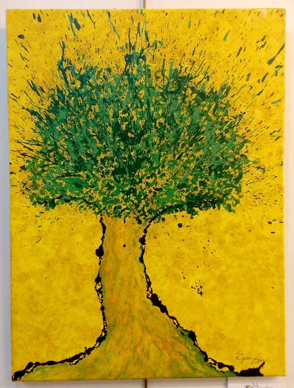 """Societree"" Watercolor/Acrylic by Ezra Bosse"