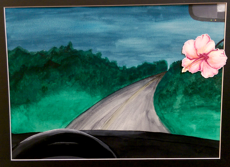 """""""Delicate Beauty"""" Watercolor/Acrylic by Hailey Brown"""