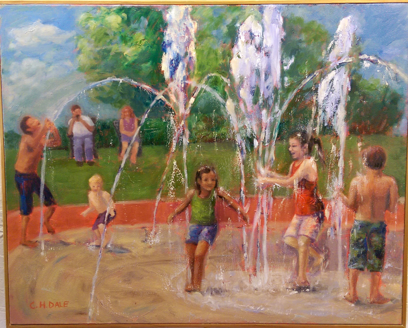 """""""Fountain of Youth"""", Oil by Carol Dale"""
