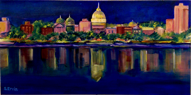 """""""Capitol Reflections"""", Acrylic by Susan Ervin"""