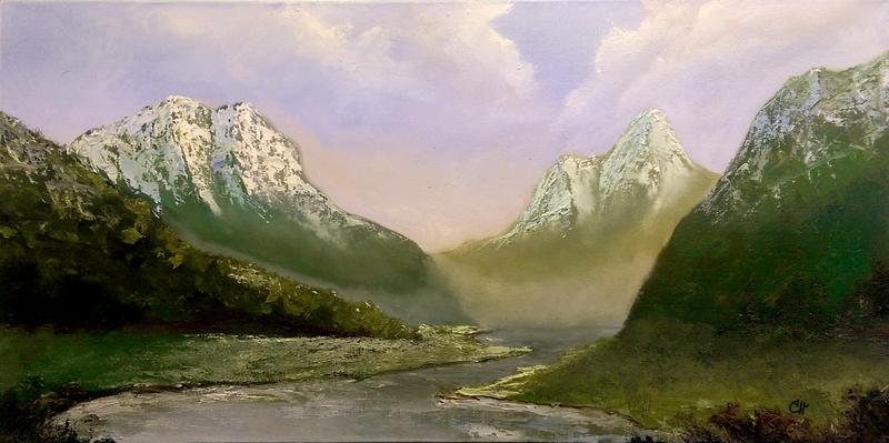 """Queens Valley"", Oil by Michael Hansen"