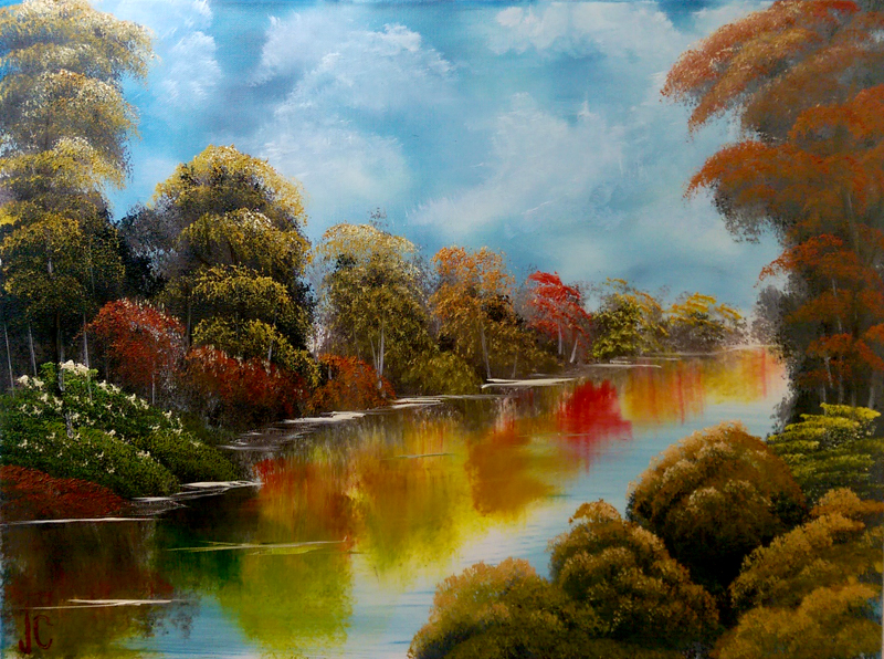 """""""Fall River Reflections"""", Oil by Jeff Chiaverini"""