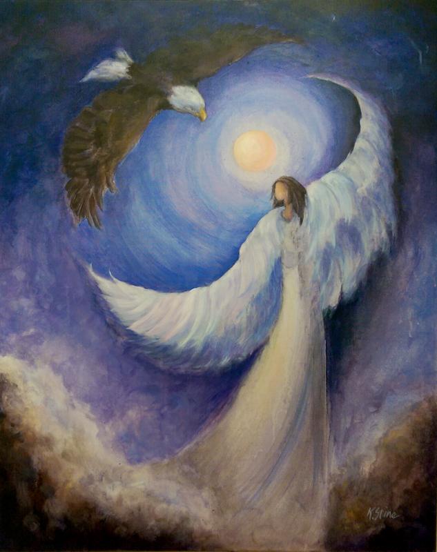 """""""Sacred Dance"""", Acrylic by Kym Stine"""