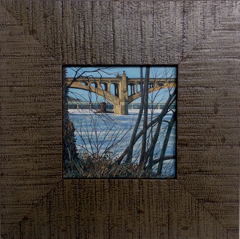 """""""River Ice"""", Egg Tempera by Richard Ressel"""