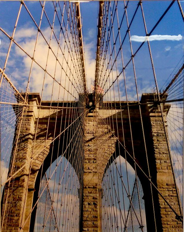 """Brooklyn Bridge"", Photography on Wood by Robert Warfield"