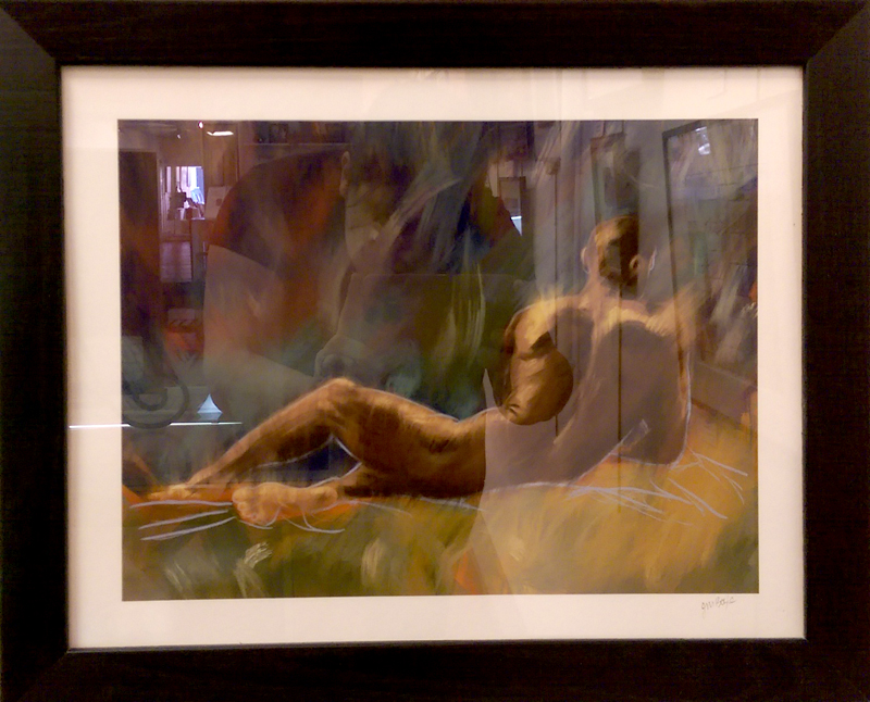 """Reclining Male Figure"", Digital/iPad Art by Judy Boyle"