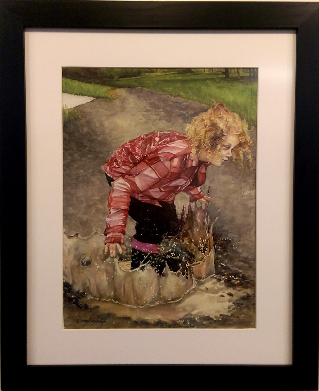 """Splash Down"", Watercolor by Donna Berk Barlup"