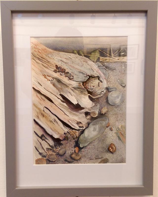 """Driftwood"", Watercolor by Teresa Richards"