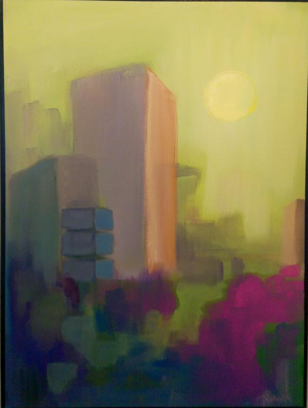 'Imagine #9' Acrylic by Kirby Heltebridle