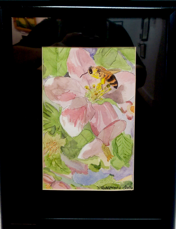 'Bee Mine' Watercolor by Debra Robertson