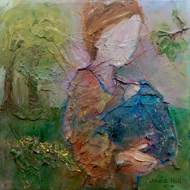 'Mom and Me Time' Acrylic by Deborah Nell
