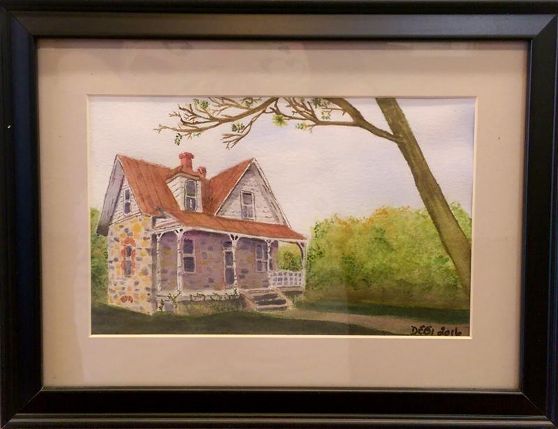 'Springfield' Watercolor by Debra Robertson