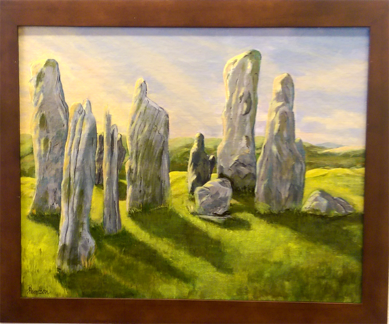 'Ancient Stones' Acrylic by Robin Robertson