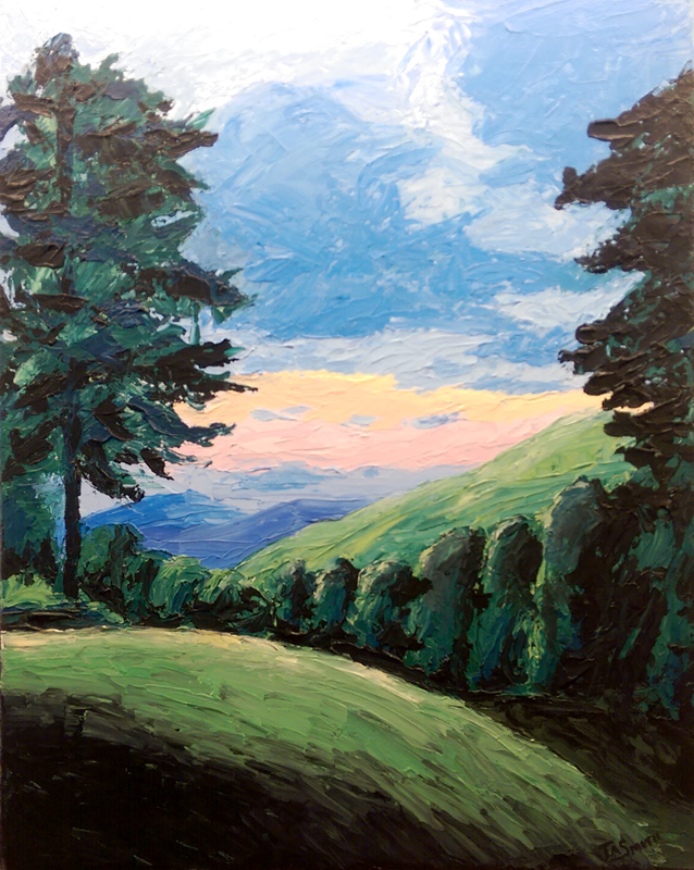 'Great Cacapon' Acrylic by Julie Smith